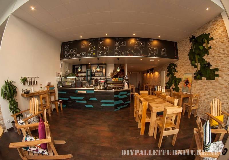Cafeter a con palets - Muebles de cafeteria ...