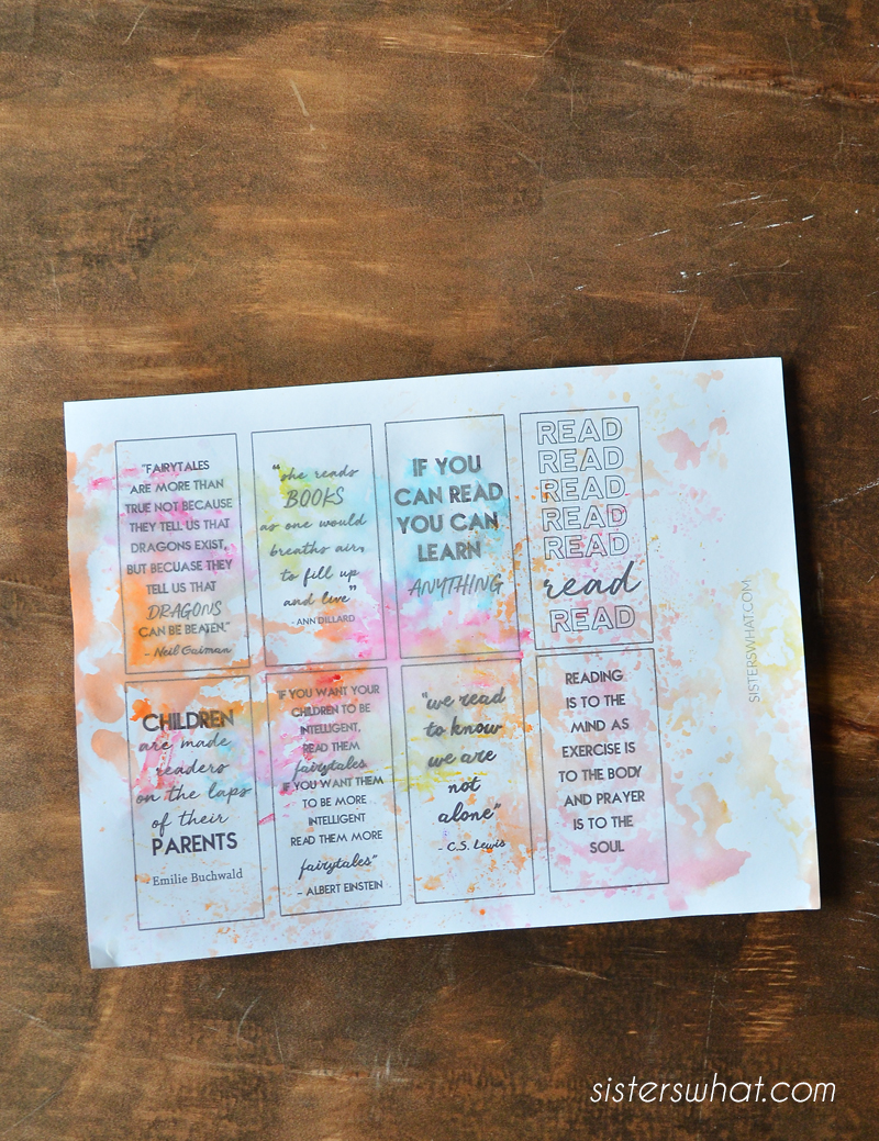 printable modern bookmarks reading quotes