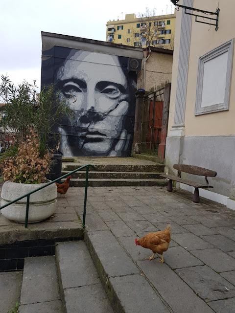 Murales esterno alla Parrocchia Maria SS. del Carmine-Rione Sanità-Napoli