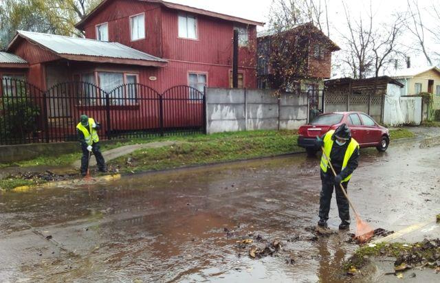 Trabajos por precipitaciones