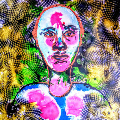 Man sees colors, abstract painting by miabo enyadike