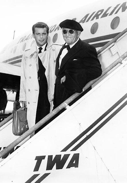 Robert Wagner and Spencer Tracy flying TWA