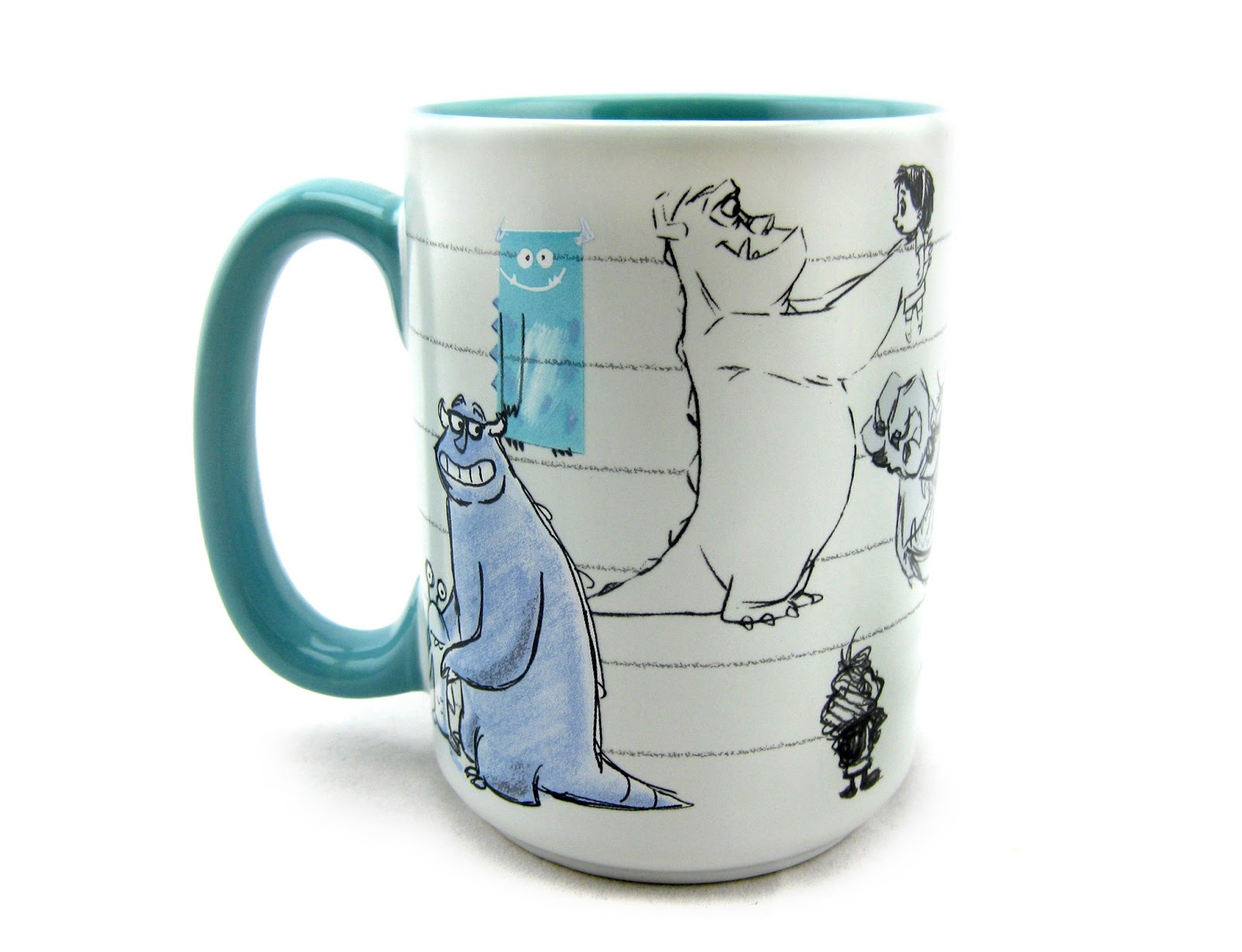 Dan the pixar fan monsters inc sulley art of pixar mug - Walle and eve mugs ...