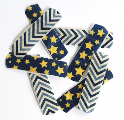 attractive bandages with stars and chevrons