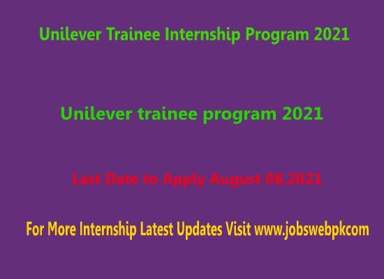 unilever-trainee-internship-program-2021