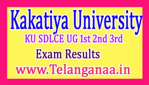 KU SDLCE UG 1st 2nd 3rd Year Exam Results 2017 Kakatiya University