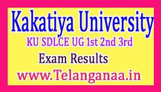 KU SDLCE UG 1st 2nd 3rd Year Exam Results 2017 Kakatiya University