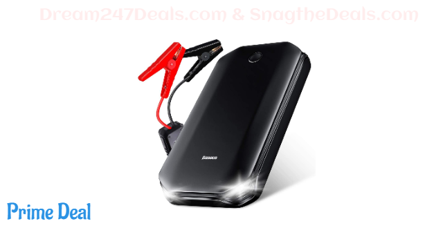 Portable car battery jump starter & phone charger  40% OFF