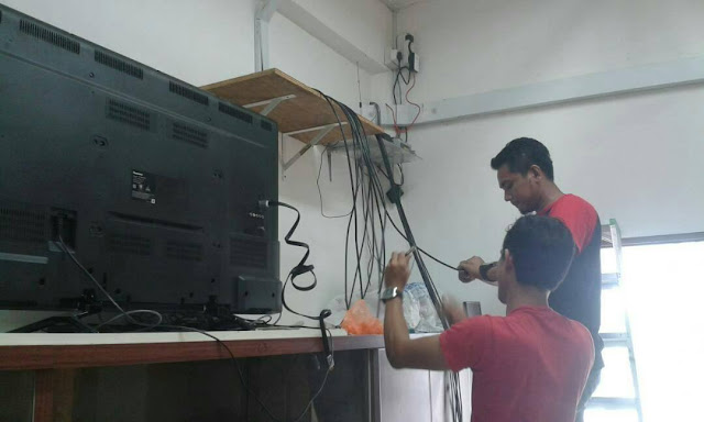 kerja kerja wiring dengan teliti,wiring elektrik,cctv kuantan