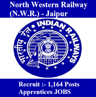 Railway Recruit Cell, North Western Railway, RRC, NWR, RRC Jaipur, RRC Jaipur, Indian Railway, Railway, RAILWAY, 10th, ITI, Apprentice, freejobalert, Sarkari Naukri, Latest Jobs, Hot Jobs, nwr logo