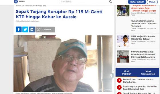 Sepak Terjang Koruptor Rp 119 M: Ganti KTP hingga Kabur ke Aussie