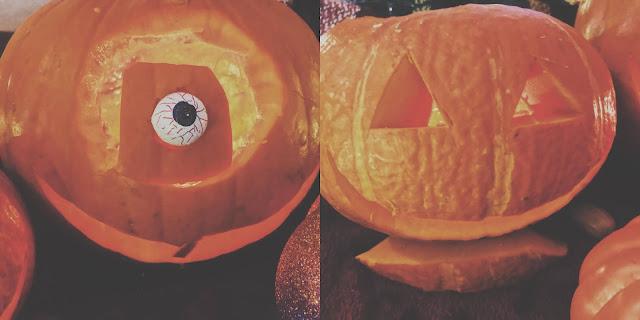 carved pumpkin & squash