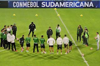 Oriente Petrolero realizó el reconocimiento al Estadio José Fierro - DaleOoo - Copa Conmebol Sudamericana