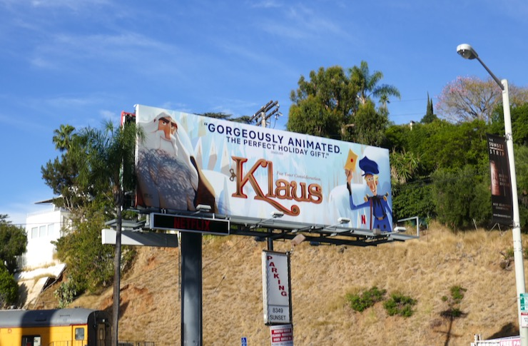 Klaus film FYC billboard