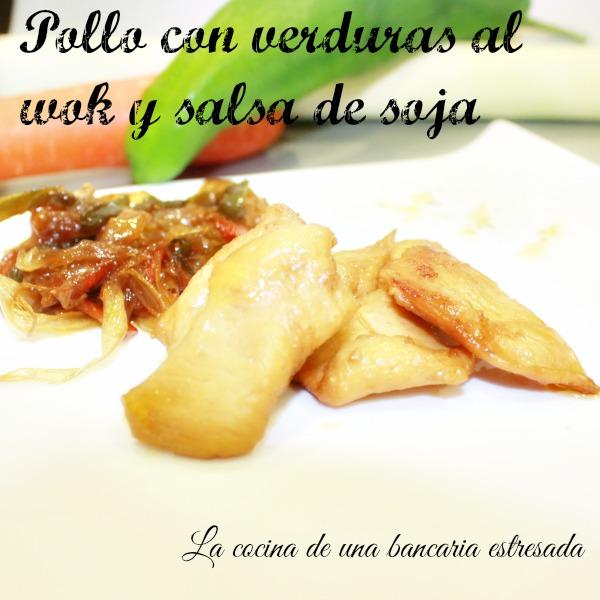 Receta de pollo con verduras en wok con salsa de soja