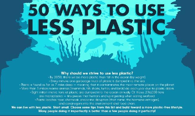 50 Easy Ways To Avoid Everyday Plastic #infographic