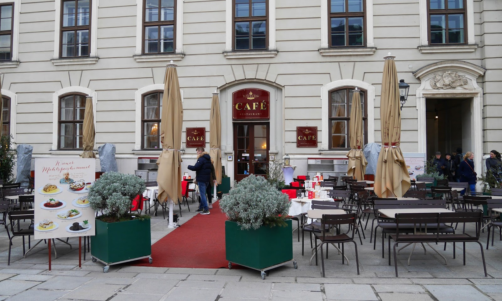 A café in Vienna city centre