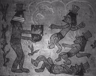 A slide from Prof. Morris' lecture on Mayan poison gas