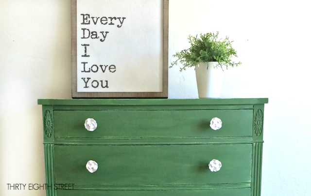 ofmp, milk paint, how to paint with milk paint, how to use old fashioned milk paint, painted dresser, green dresser, tavern green