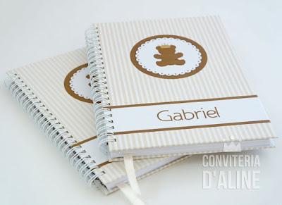 caderno personalizado do bebe