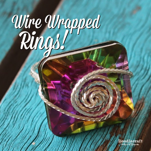 Doodlecraft: Wire Wrapped Rings!