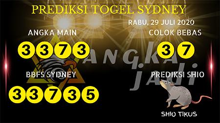 Prediksi Angka Jitu Sydney Rabu 29 Juli 2020