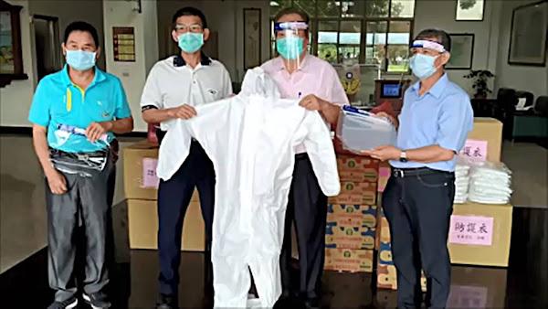 向波麗士致敬 社頭鄉農會捐贈防疫面罩及防護衣