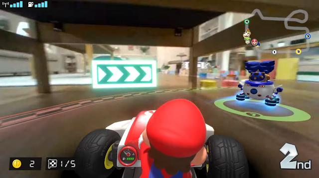 Mario Kart Live Home Circuit arrow signboards flashing Ludwig Von Koopa