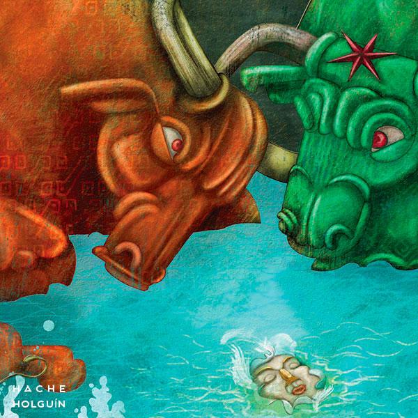 """Ilustración. Mito """"El tesoro de Chaparrí"""""""