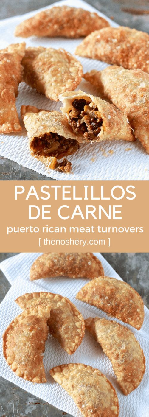 Pastelillos de Carne (puerto rican meat turnovers)