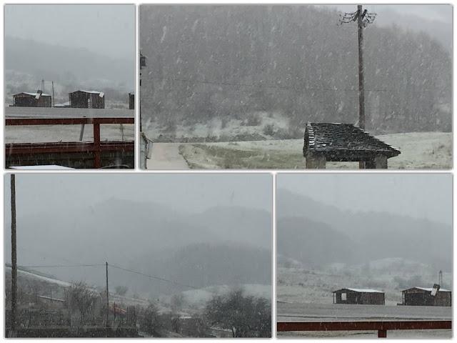 Γιάννενα: ΜΕΤΣΟΒΟ - Χιονίζει στο χιονοδρομικό κέντρο του Προφήτη Ηλία