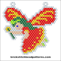 Click to view the Red Fairy Christmas brick stitch bead pattern charts.