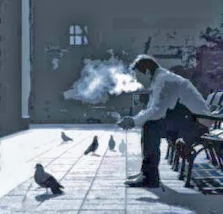 Sad alone+boy+sitting+smoking+smoke+alone+boy+in+love+sad+Bewafa Shayari
