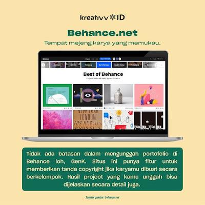 Behance Rekomendasi Situs Buat Upload Portofolio