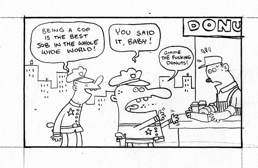 cop strip Comic