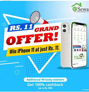 Esewa new offer: 'Win iPhone 11 at just Rs. 11'