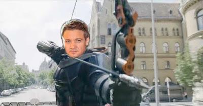 Hawkeye as Taskmaster In Marvel Black Widow trailer