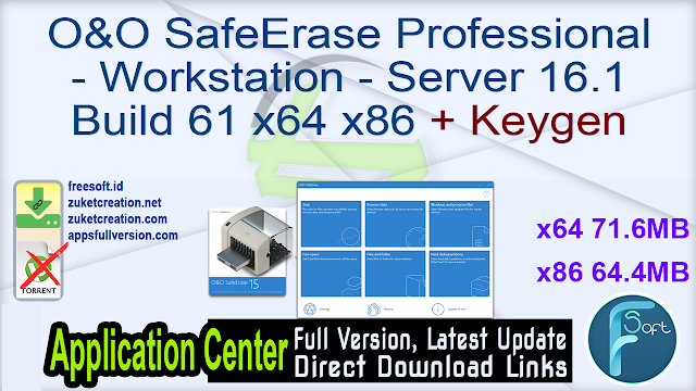 O&O SafeErase All Editions 16.1 Build 61 x64 x86 + Keygen