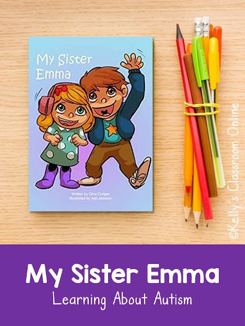 My Sister Emma by Gina Conger  is about a little girl who has autism. Learn about how she is able to live a full life with help of a few supports.