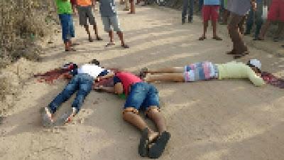 assassinados á tiros quando voltavam da escola