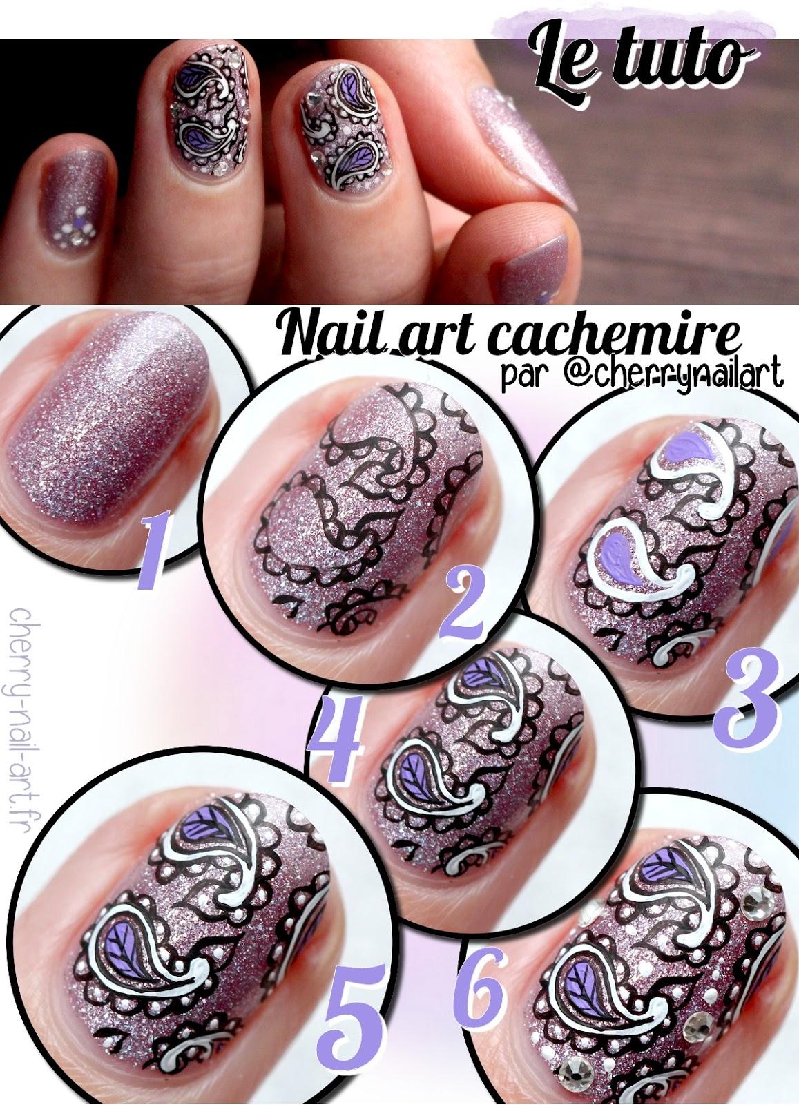tuto-nail-art-cachemire-strass-paillettes