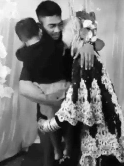 Bikin Haru! Sambil Peluk Anak, Suami Datang ke Kawinan Mantan Istri 😢