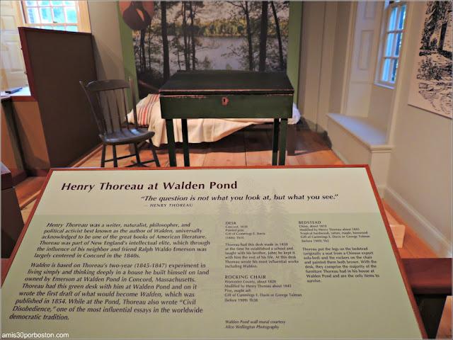 Museo de Concord: Muebles de la Cabaña de Henry D. Thoreau