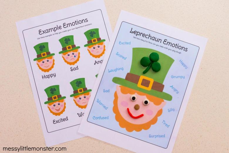 St Patricks Day leprechaun playdough mat