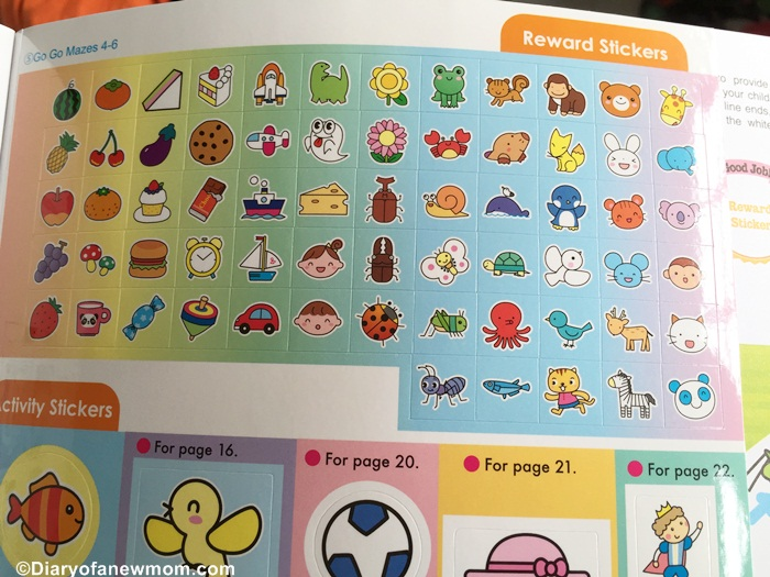 Cute and colourful rewards stickers