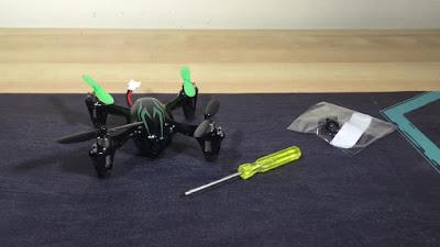 Cara Mengganti Lensa Kamera Drone Hubsan H107c   - OmahDrones