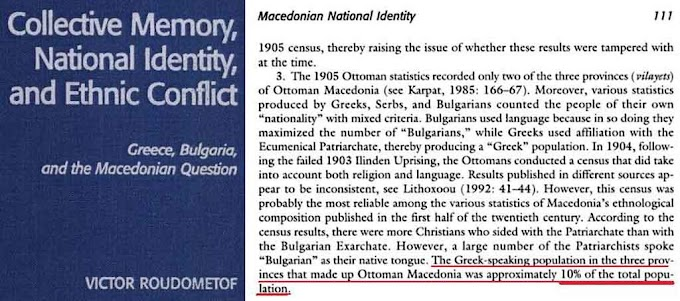 Only 10 percent Greek-speaking residents in Ottoman Macedonia