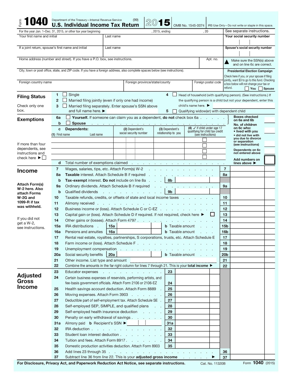 Earth and Space News: 2015 Form 1040 Mailing Addresses: Where to ...