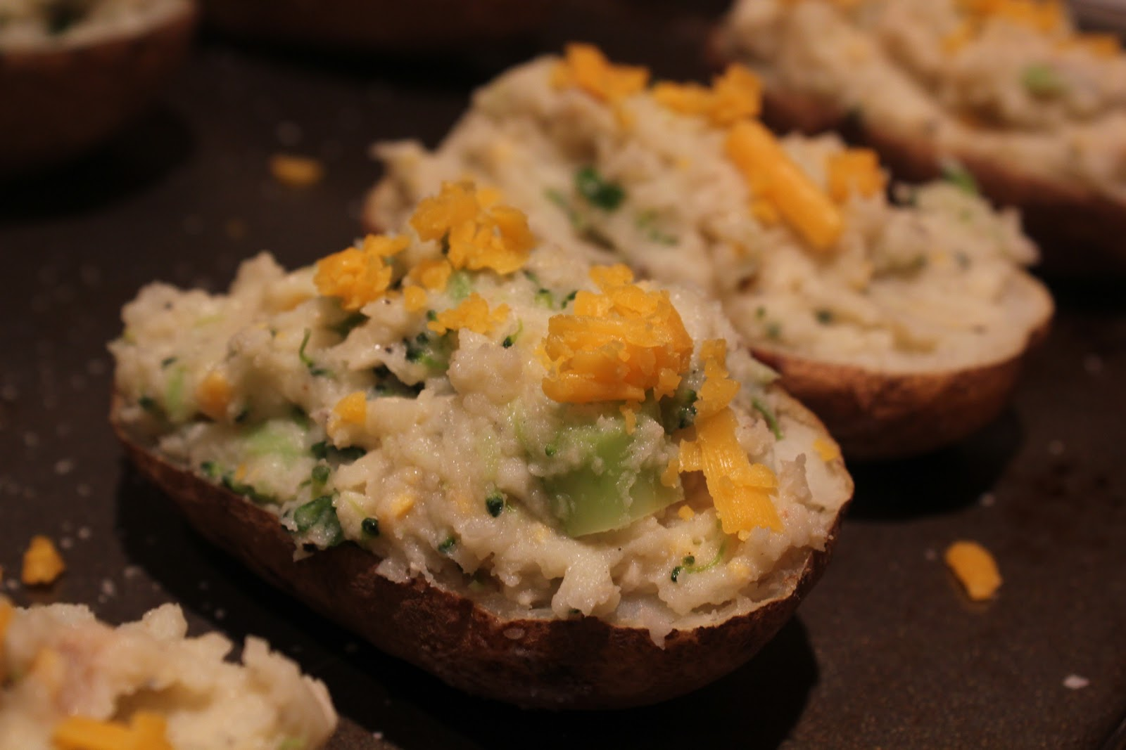 Near To Nothing: Healthy(er) Twice Baked Potatoes