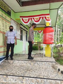 Kapolsek Cendana Polres Enrekang Sambang Kedesa Lebang dan Kontrol Kampung Tangguh